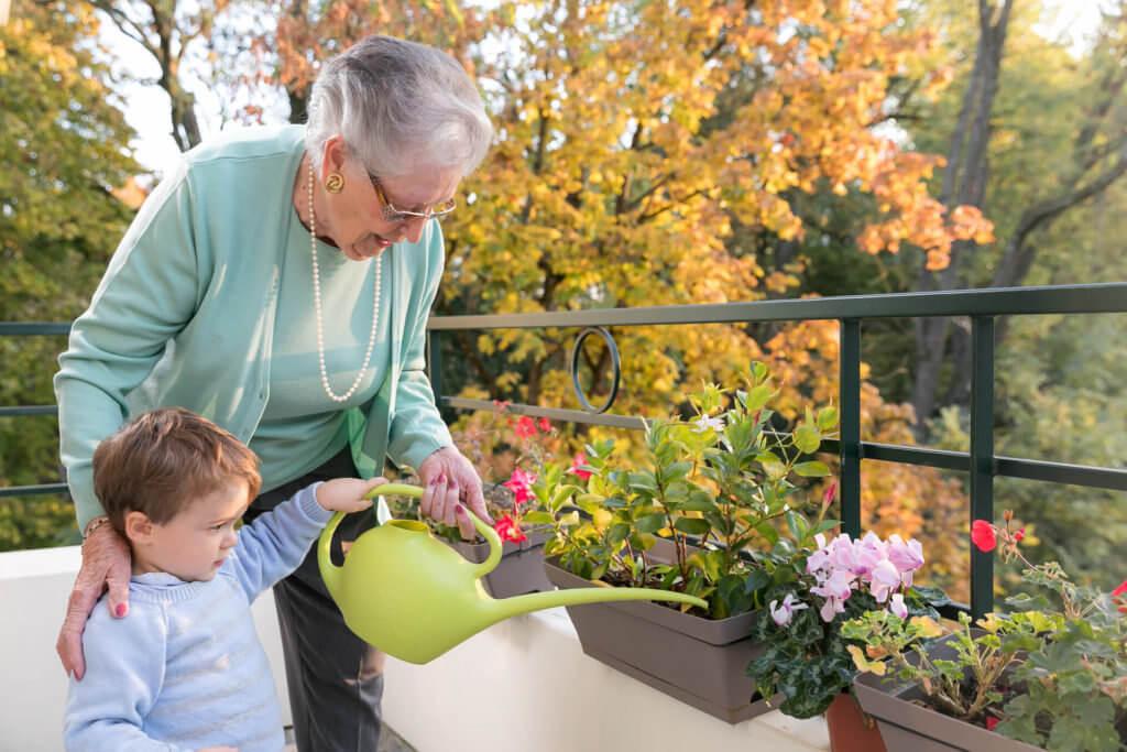 Résidence pour les seniors - Grand-mère et petit-fils, résidence pour senior en France