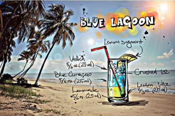curaçao bleu